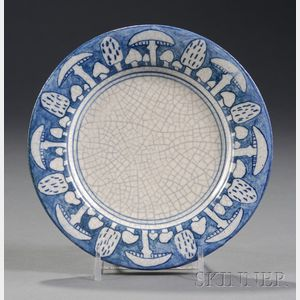 Dedham Pottery Toadstool Plate