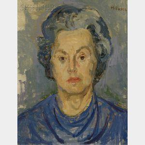 Moses Soyer (American, 1899-1974)      Portrait of Lady Bird Johnson
