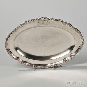 George III Irish Sterling Silver Tray