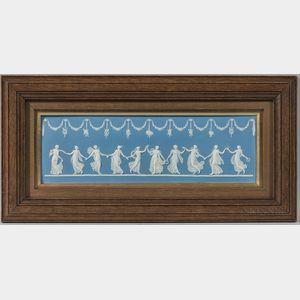 Wedgwood Solid Blue Jasper Dancing Hours   Plaque