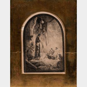 Rembrandt Harmensz van Rijn (Dutch, 1606-1669)      The Raising of Lazarus: The Larger Plate