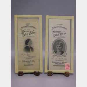 Two 1912 and 1914 Women's Relief Corps. National Convention Silk Ribbons