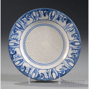 Dedham Swan and Cat-o-Nine Tails Plate