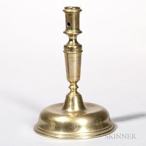 Brass Dome-base Candlestick