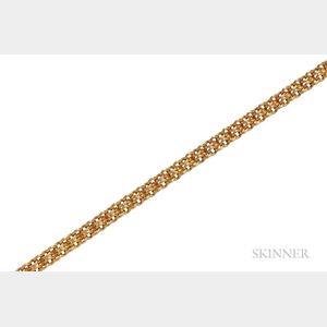 Antique Bicolor Gold Necklace