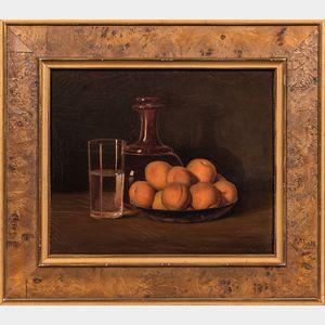 William Partridge Burpee (American, 1846-1940)      Still Life with Peaches