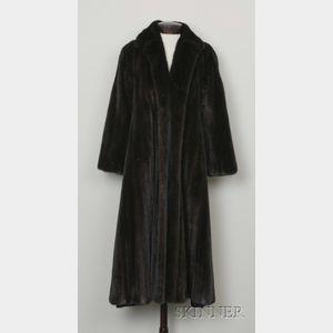 Full Length Dark Brown Mink Coat