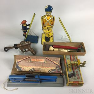 Group Lithographed Tin Toys