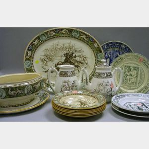 Fourteen Pieces of Assorted Wedgwood Ivanhoe Pattern Tableware