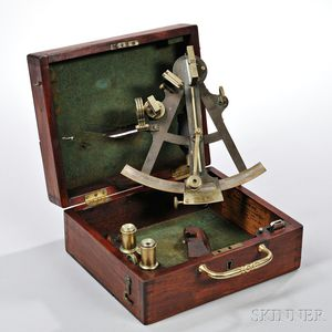 Hill & Price 8-inch Anodized Brass Sextant
