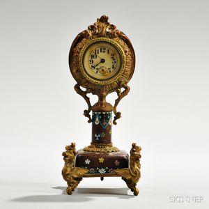 Cloisonne Gilt-copper Clock