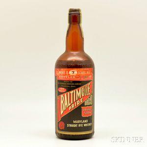 Baltimore Pride Straight Rye Whiskey   7 Years Old   1935