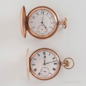 "9kt Gold Zenith ""Prima"" and a 14kt Gold Unmarked Watch"
