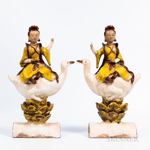 Pair of Chinese-style Roof Tiles