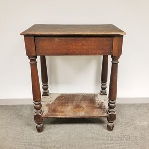 Country Turned Walnut Schoolmaster's Desk