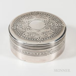 Tiffany & Co. Sterling Silver Powder Box