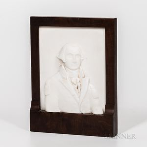 Small Carved Marble Presentation Bust to Major Henry Wilson of General George Washington