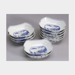 Ten Porcelain Serving Dishes