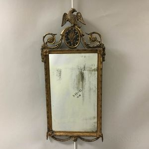 Neoclassical Carved and Gilt-gesso Mirror.