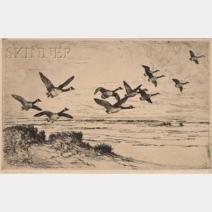 Frank Weston Benson (American, 1862-1951)      Wild Geese