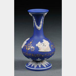 Wedgwood Dark Blue Jasper Dip Bud Vase
