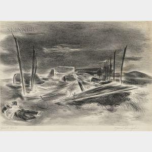 Yasuo Kuniyoshi (Japanese/American, 1893-1953)      Deserted Brickyard