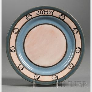Saturday Evening Girls Pottery Plate