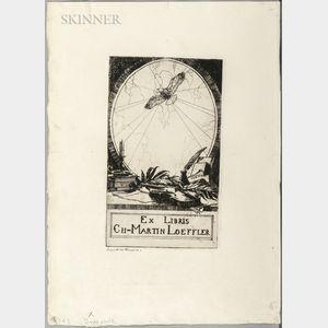 Frank Weston Benson (American, 1862-1951)      Bookplate of Charles Martin Loeffler