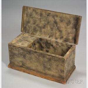 Small Painted Smoke Decorated Painted Box