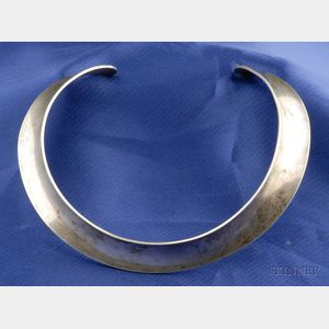 Sterling Silver Torque Necklace, Georg Jensen