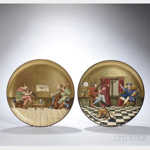 Pair of Mintons Art Pottery Chargers