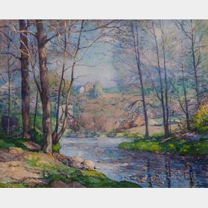 William Jurian Kaula (American, 1871-1953)    Brook in Spring