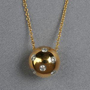 "18kt Gold, Platinum, and Diamond ""Etoile"" Pendant, Tiffany & Co."