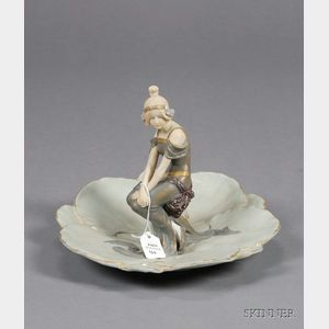Austrian Porcelain Figural Center Dish