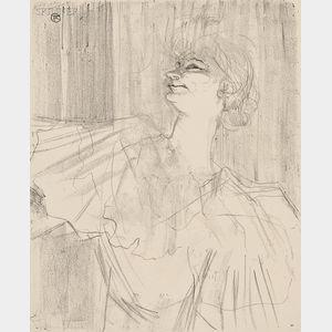 Henri de Toulouse-Lautrec (French, 1864-1901)      Yvette Guilbert, a Ménilmontant, de Bruant