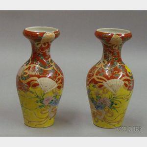 Pair of Fukugawa Vases