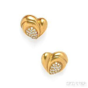 18kt Gold and Diamond Earclips, Vahe Naltchayan
