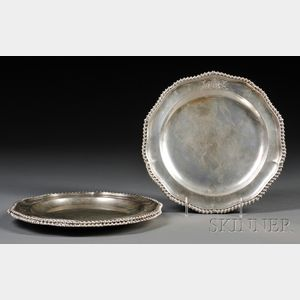 Set of Twelve George III Silver Meat Plates