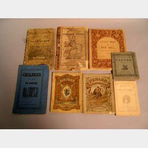 Eight 19th Century Soft Cover Children's Books