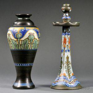 Gouda Matte Glaze Vase and Candlestick