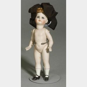 Large All-Bisque Swivel-Neck Doll