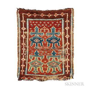 Anatolian Yastik with Animal Pelt Design