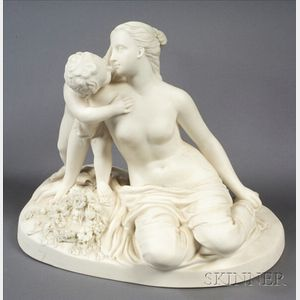 Minton Parian Figure of Childs Play