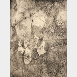 Edgar Degas (French, 1834-1917)      Danseuses dans la coulisse
