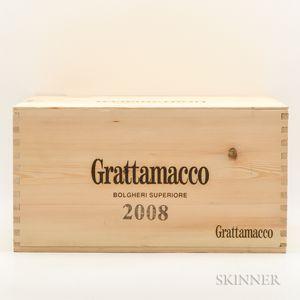 Grattamacco Bolgheri Superiore 2008, 6 bottles (owc)