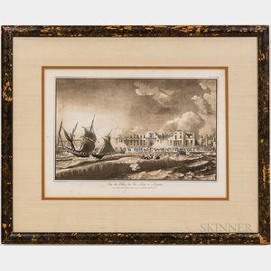 Two Framed French Etchings