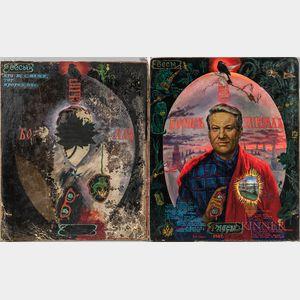 Vyacheslav Lenkov (Russian, b. 1942)      The Face of the Politician, 1987-1993  : A Diptych Portrait of Boris Yeltsin