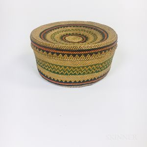 Northwest Coast Twined Lidded Basket