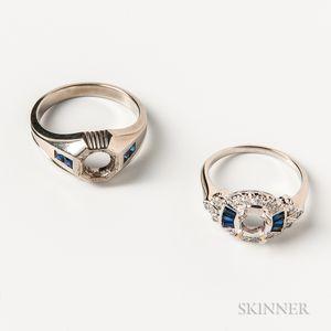 Two Gem-set Ring Mounts