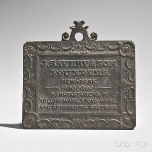 Cast Iron Advertising Plaque
